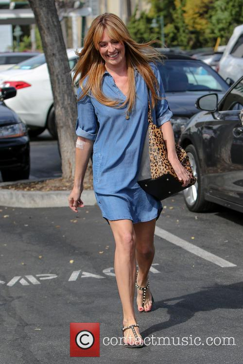 Cat Deeley sporting an injury on her right...