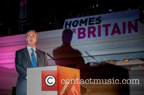 Nigel Farage speaks at the Homes for Britain...