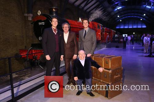 James Phelps, Oliver Phelps, Mark Williams and Warwick Davis 4