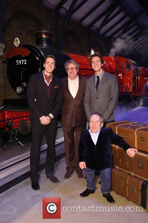James Phelps, Oliver Phelps, Mark Williams and Warwick Davis 5