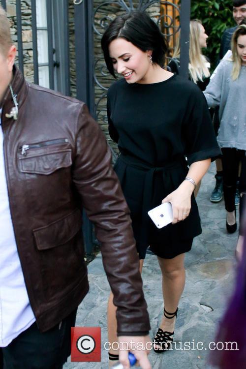 Demi Lovato leaving an event