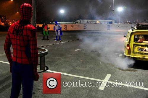 Spiderman, Batman, Robin, Foxy, Giuliano and Spider-man 6