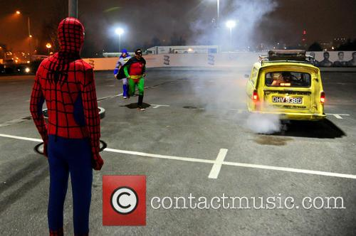 Spiderman, Batman, Robin, Foxy, Giuliano and Spider-man 7