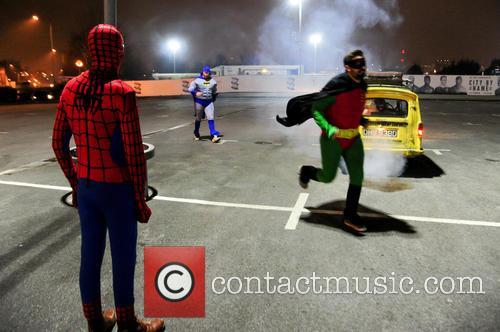 Spiderman, Batman, Robin, Foxy, Giuliano and Spider-man 10