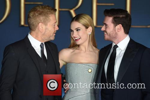 Sir Kenneth Branagh, Lily James and Richard Madden 1
