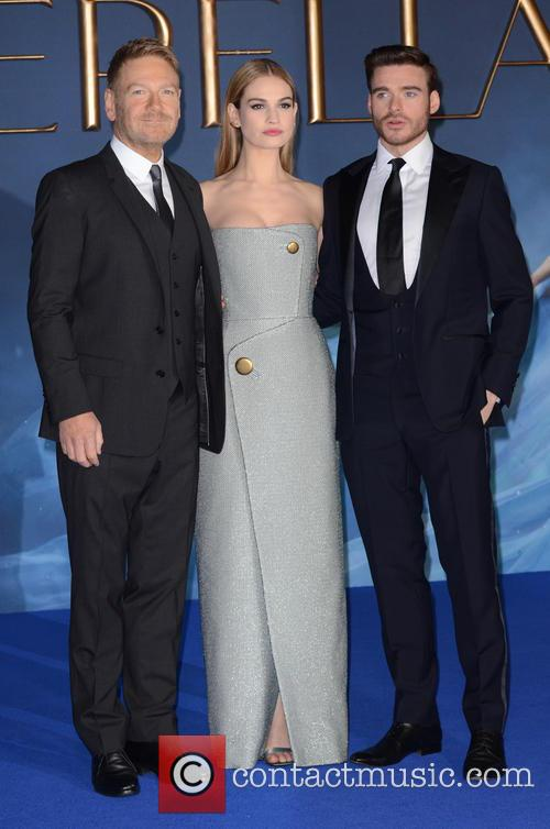 Kenneth Branah, Lily James and Richard Madden 11