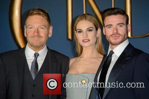Kenneth Branagh, Lily James and Richard Madden