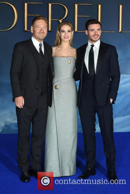 Sir Kenneth Branagh, Lily James and Richard Madden 2