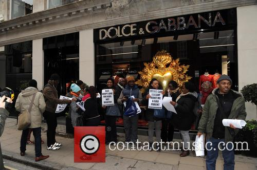 Bond, Dolce and Gabbana Protest 2