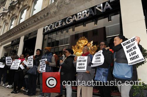 Bond, Dolce and Gabbana Protest 6