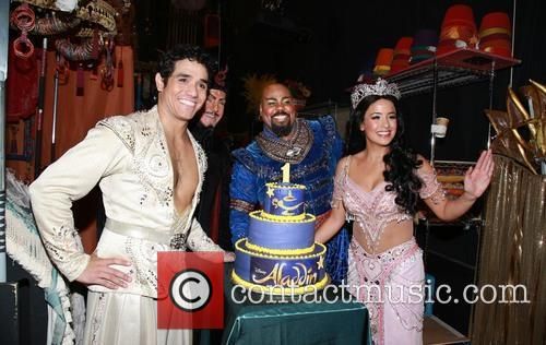 Adam Jacobs, Jonathan Freeman, James Monroe Iglehart, Courtney Reed and Cake By Beth Bennett Of Bebe Bakes 1
