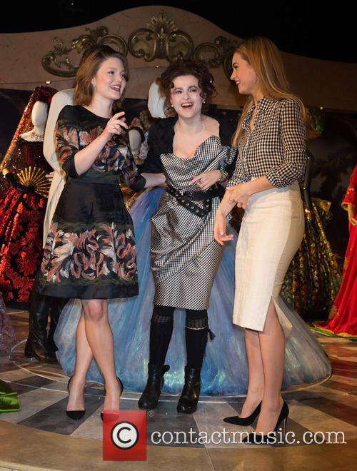 Holliday Grainger, Helena Bonham Carter and Lily James 4