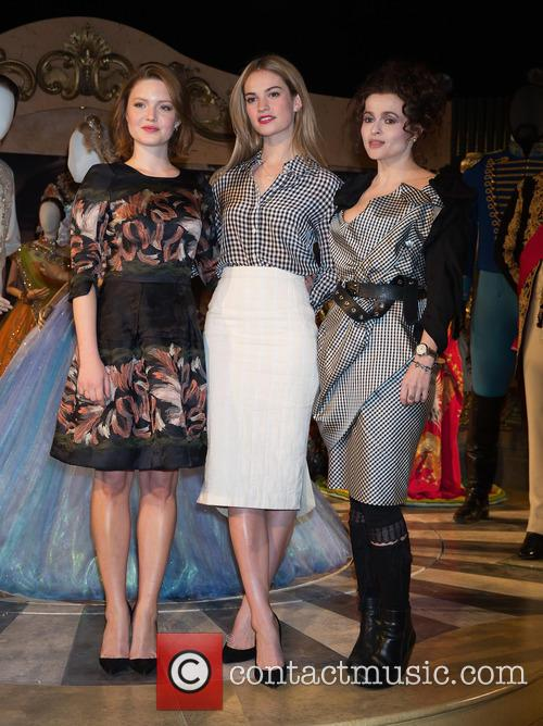 Holliday Grainger, Lily James and Helena Bonham Carter 7