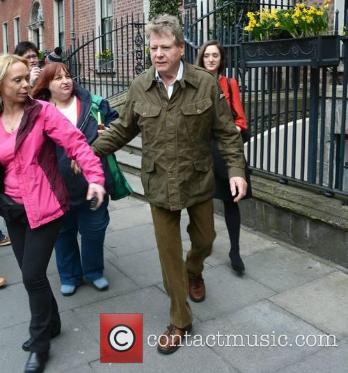 Ryan O'Neal seen leaving The Merrion Hotel