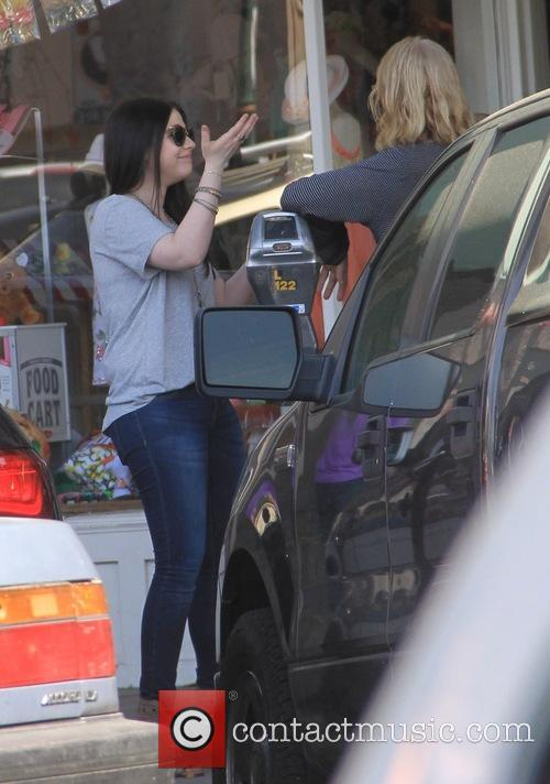 Michelle Trachtenberg out shopping with a friend