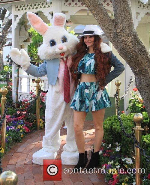 Phoebe Price poses with the Easter Bunny at...