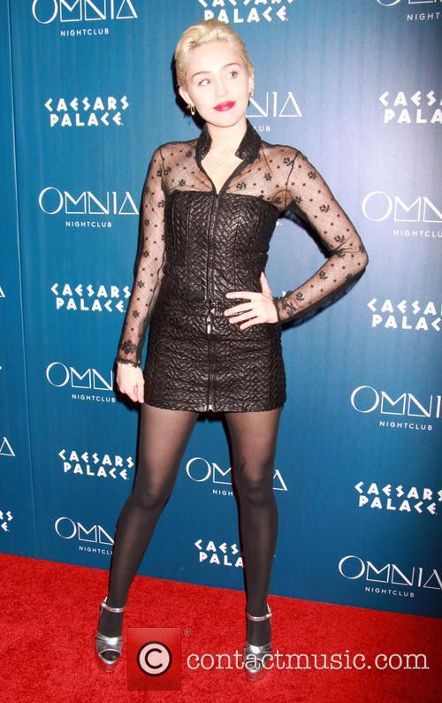 Miley Cyrus hosts an evening at Omnia Nightclub