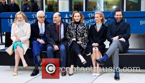 John Hamm, Elisabeth Moss, John Slattery, Christina Hendricks, January Jones and Matthew Weiner 3