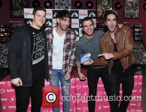 Alex Gaskarth, Jack Barakat, Zack Merrick, Rian Dawson and All Time Low 4