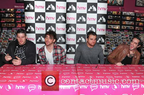 Alex Gaskarth, Jack Barakat, Zack Merrick, Rian Dawson and All Time Low 6
