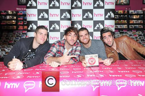 All Time Low sign copies of their new...