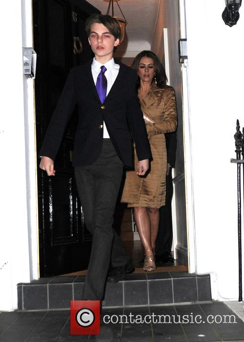 Elizabeth Hurley and Damian Charles Hurley 2
