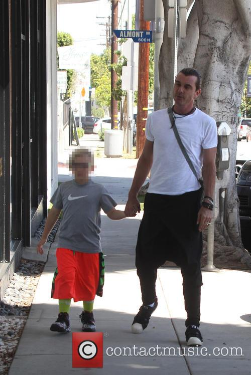 Gavin Rossdale and his son Zuma out and...