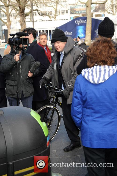 Boris Johnson leaves Global House