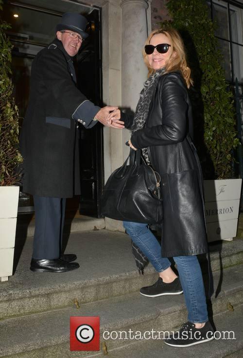 Kim Cattrall arrives in Dublin