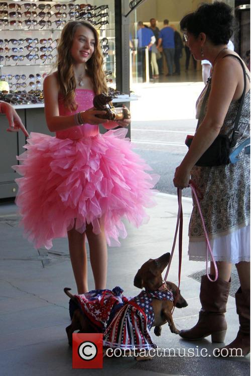 Caitlin Carmichael dressed in a frilly pink tutu
