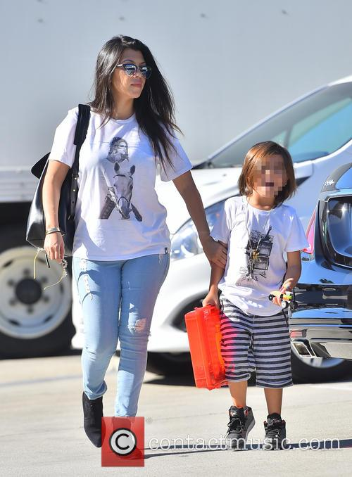 Kourtney Kardashian and Mason Disick 2