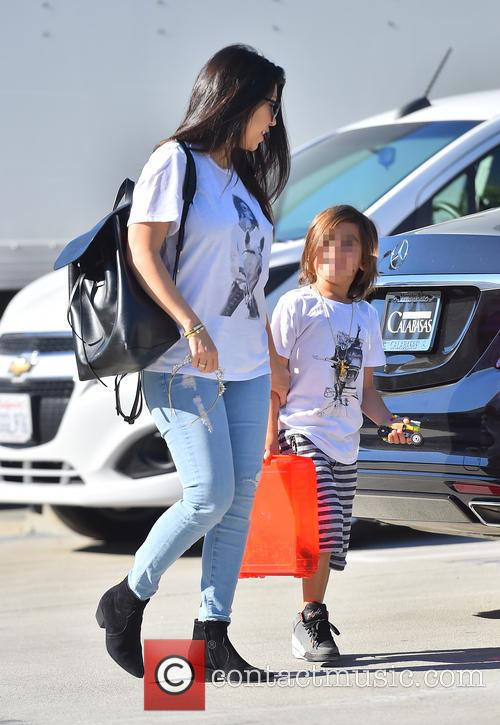 Kourtney Kardashian and Mason Disick 1