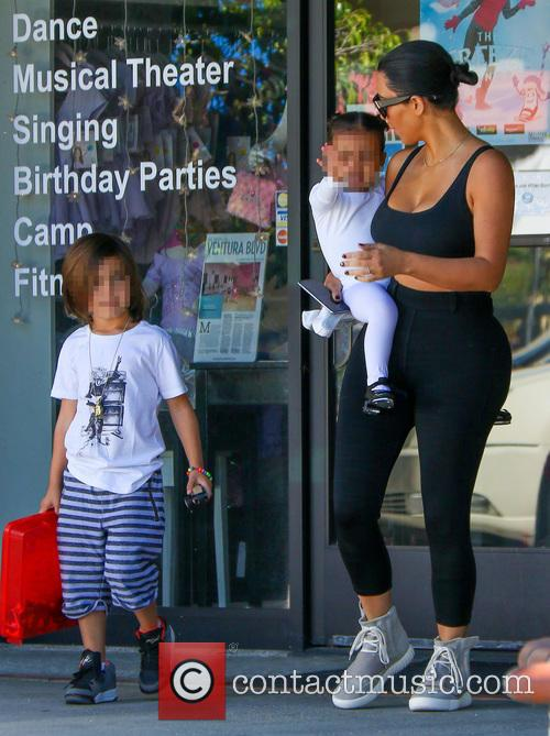 Kim Kardashian, North West and Reign Disick 10