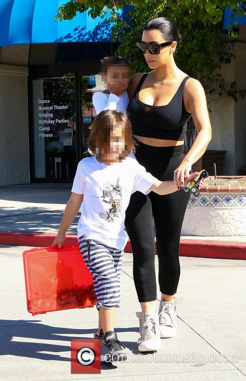 Kim Kardashian, North West and Reign Disick 1