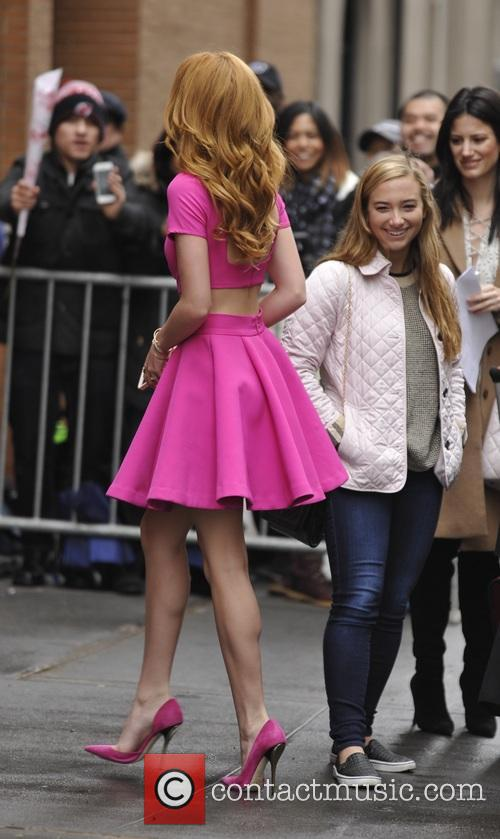 Bella Thorne arrives for an appearance on ABC's...