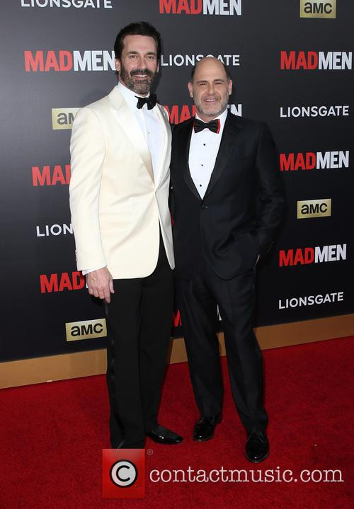 Jon Hamm and Matthew Weiner