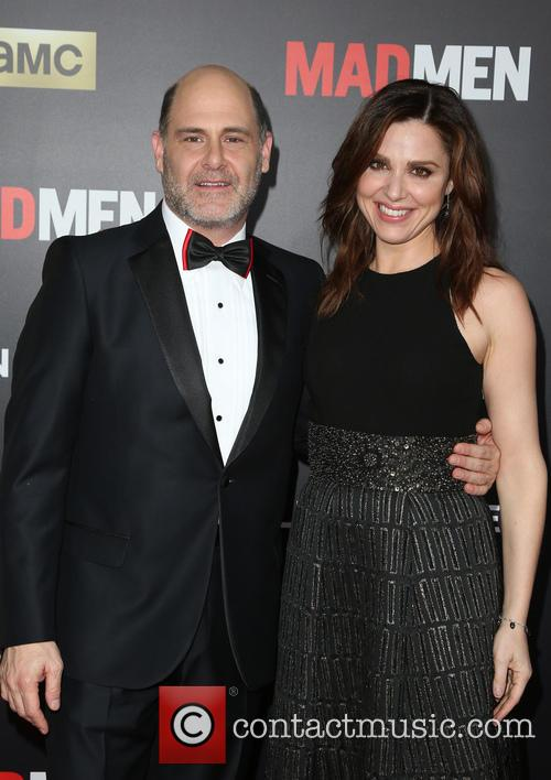Matthew Weiner and Cara Buono 8