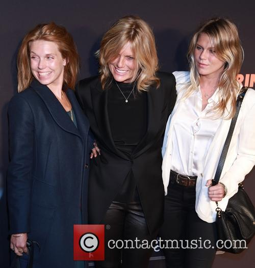 Theodora Richards, Patti Hansen and Alexandra Richards