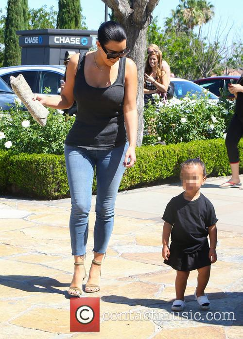 Kim Kardashian and North West 9