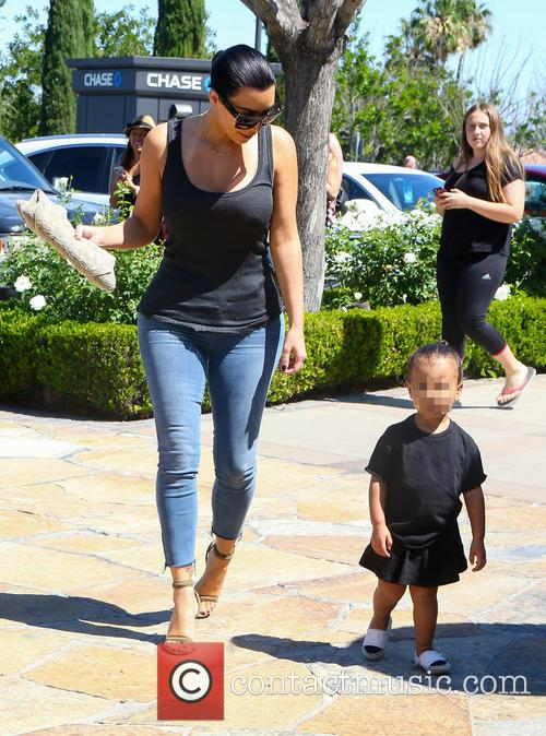 Kim Kardashian and North West 10