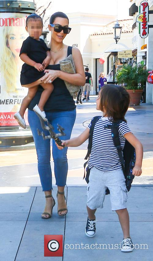 Kim Kardashian, North West and Mason Disick 5