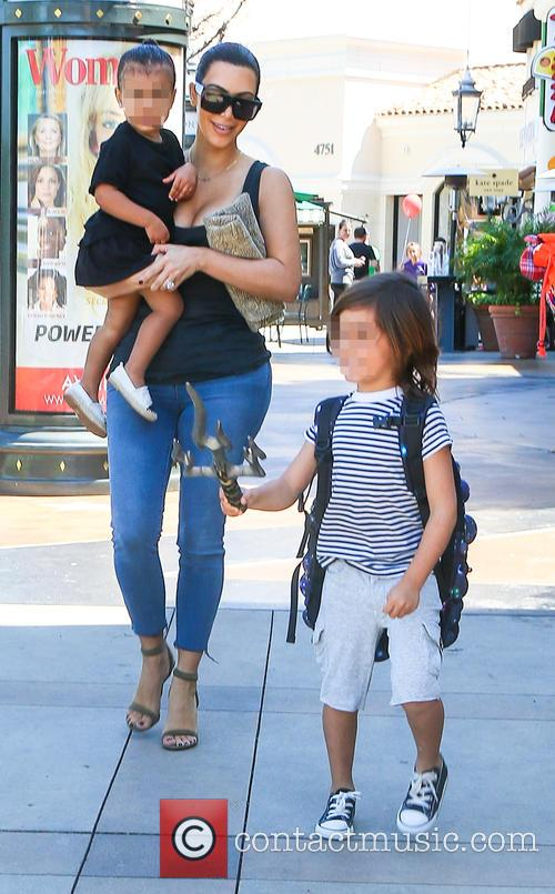 Kim Kardashian, North West and Mason Disick 6