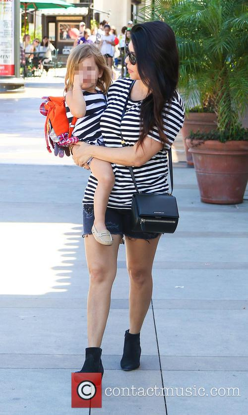 Kourtney Kardashian and Penelope Disick 2