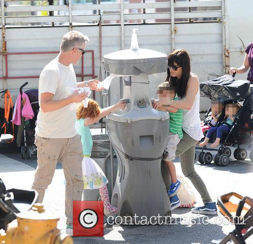 Selma Blair takes her son to the Farmers...
