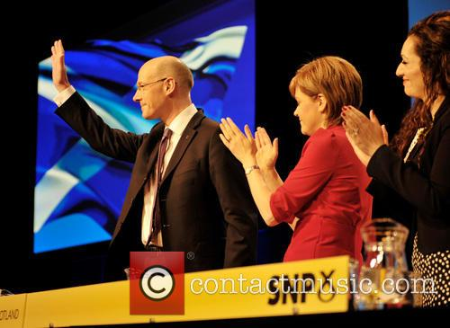 John Swinney, Nicola Sturgeon and Tasmina Ahmed-sheikh 2
