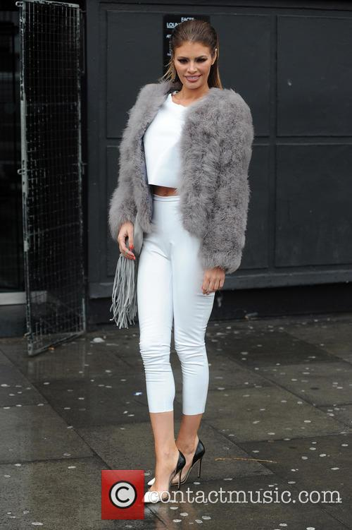 Chloe Sims arrives for filming