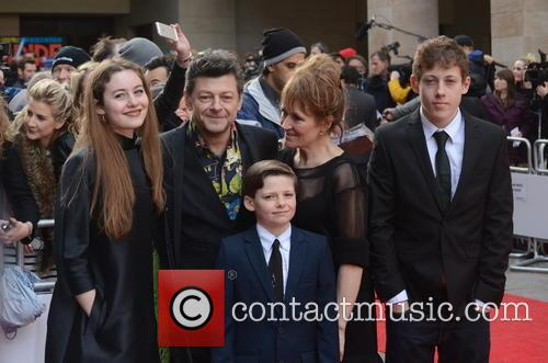 Andy Serkis, Lorraine Ashbourne, Sonny Serkis, Ruby Serkis and Louis George Serkis 3