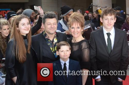 Andy Serkis, Lorraine Ashbourne, Sonny Serkis, Ruby Serkis and Louis George Serkis 1