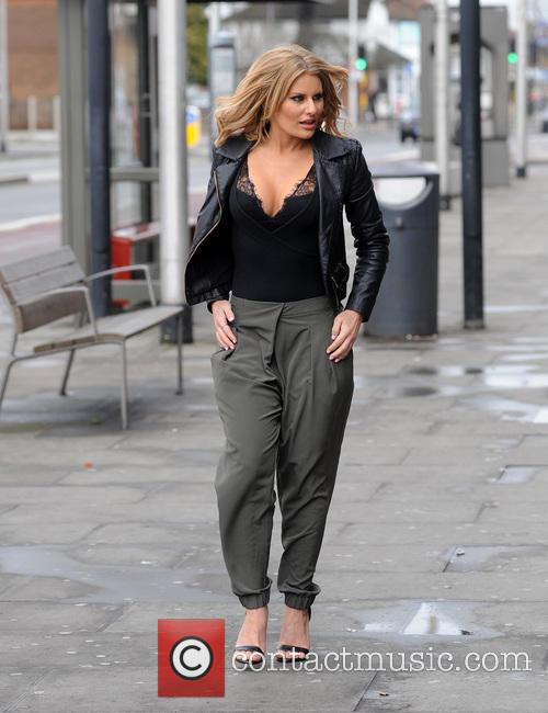 TOWIES Danielle Armstrong on her way to filming