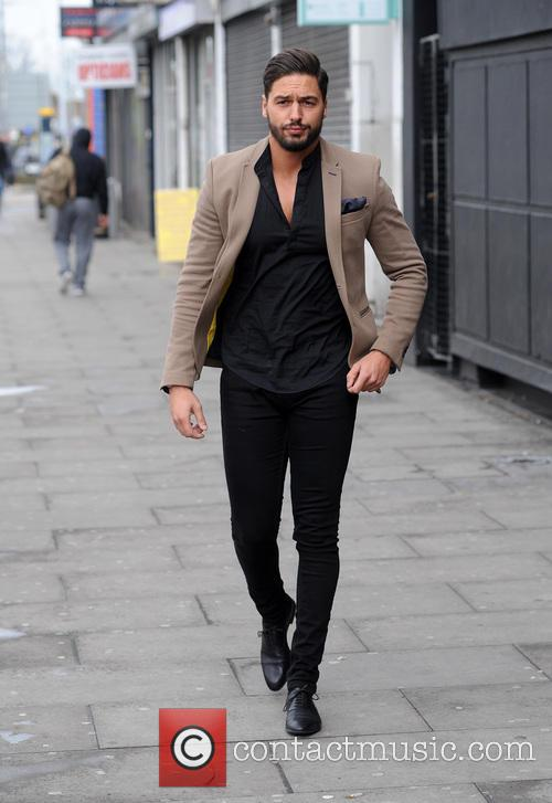 TOWIES Mario Falcone arrives for filming in Essex